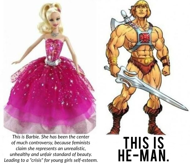 Barbie vs He-Man