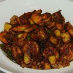 chemmen ularthiyathu recipe, chemmen olthiyathu recipe, seafood recipe, prawns dry recipe, chemmen semi-dry recipe, kerala recipe, nadan recipe, kerala cooking