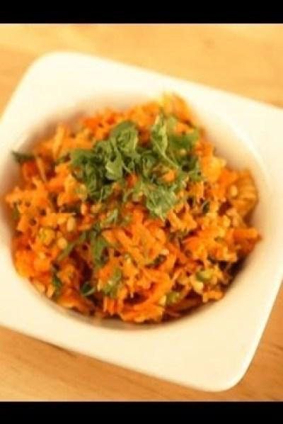 carrot pachadi, onam sadhya curry recipe