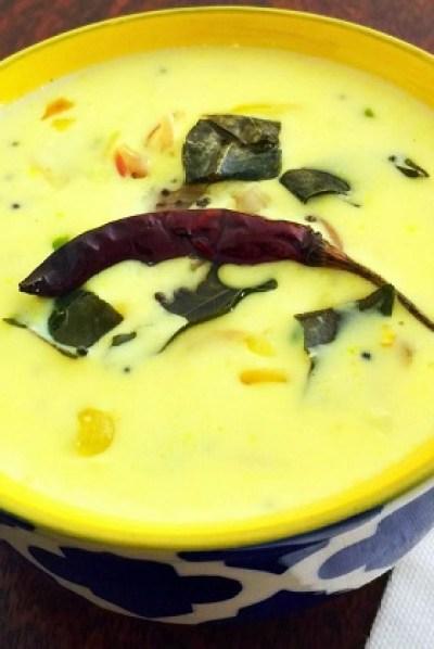 moru kachiyathu recipe, easy moru curry recipe, kachiya moru recipe
