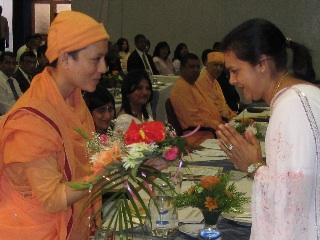 Reception to the Revered new Mataji
