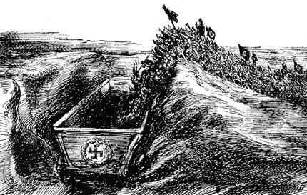 """A. Paul Weber, 1932: """"Hitler - ein deutsches Verhängnis"""""""