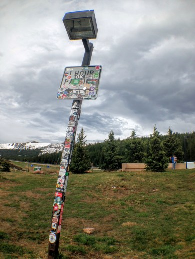 There wasn't a single sign post in CO that lacked a smattering of stickers.