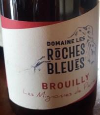 """Dégustation du Côtes de Brouilly """"Les Mignonnes de Pierreux"""" - Domaine des Pierres Bleues - Beaujolais"""