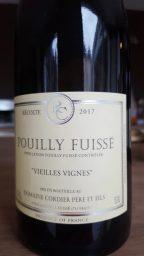 Etiquette de Pouilly Fuissé Vieilles Vignes Domaine Cordier