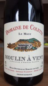 """Etiquette du Moulin À Vent """"Le Mont"""" - Domaine de Colette"""