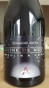 """Etiquette du Moulin À Vent """"Reine de Nuit"""" - Domaine Anita"""