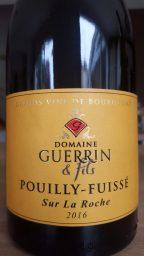 Etiquette de Pouilly Fuissé Sur La Roche  Domaine Guerrin