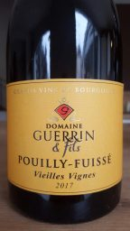 Etiquette de Pouilly Fuissé Vieilles Vignes  Domaine Guerrin