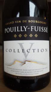 Etiquette de Pouilly Fuissé Collection V