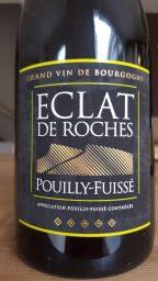 Etiquette de Pouilly Fuissé Eclat de Roche