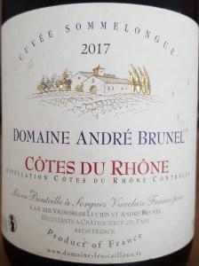 Etiquette d'une bouteille de vin de Côte du Rhône