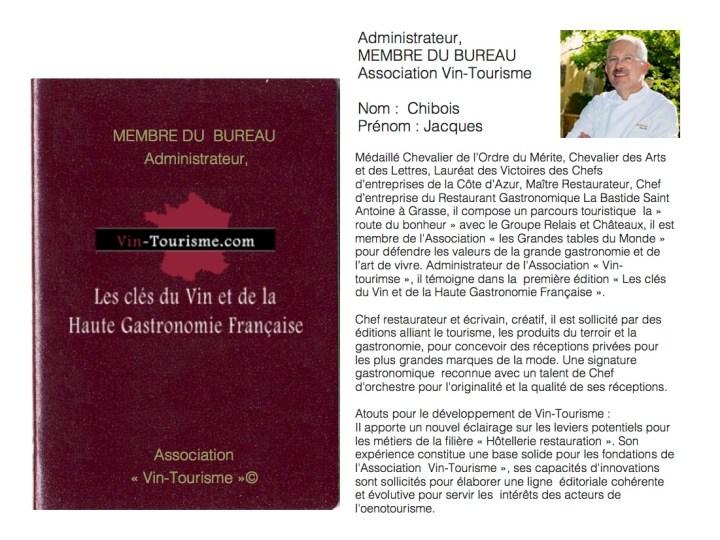Jacques Chibois Vin Tourisme 3