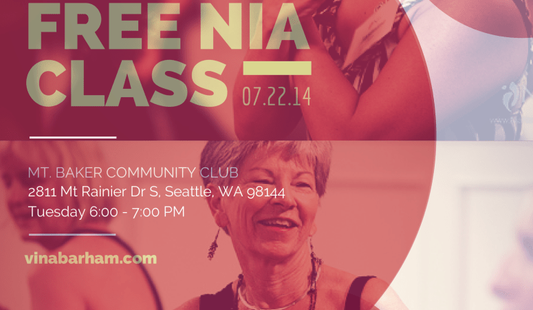 Free Nia Class this Tuesday – July 22 at Mt Baker Community Club
