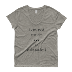 I Am Not Exotic Ladies' Roadtrip Tee