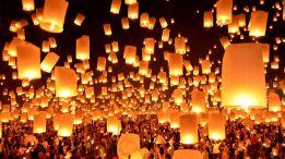 Đèn trời xứ Thái lung linh trong Lễ hội Hoa Đăng ở Chiangmai, Thái Lan