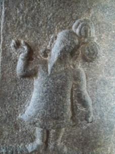 On the pillar - Something dating back to the empire of Vijaynagara
