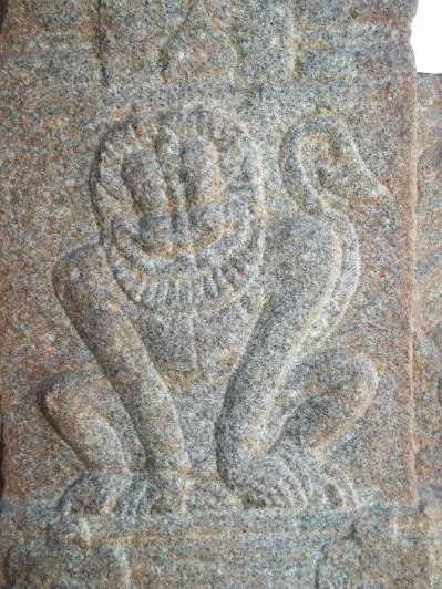 A sculpture on the pillar