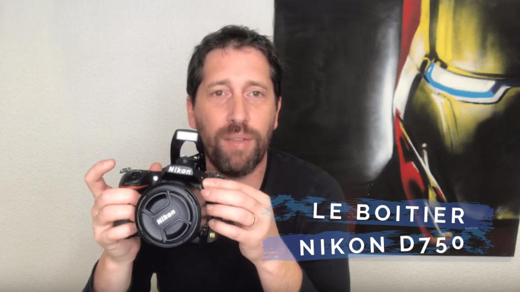 le boîtier Nikon 750D