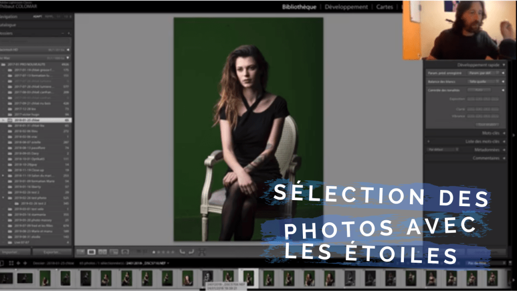 tutoriel lightroom sélection des photos
