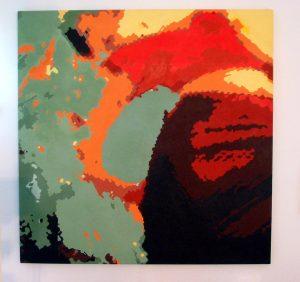Summer Woman (acrylic on canvas) 2002