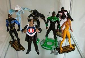 Black Lightning, Storm, Obama by Alex Ross, Black Panther, Green Lantern John Stewart, Mister Terrific, Vixen