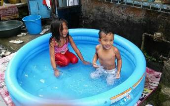 My cousins, Eunice and Mason.