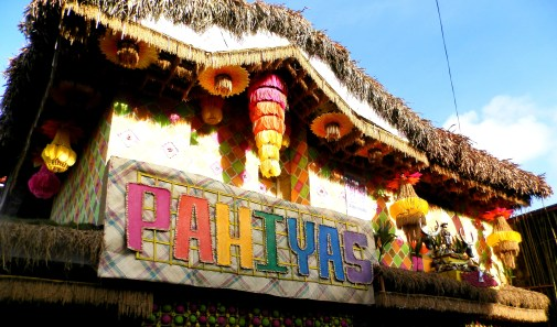 Most houses are decorated with palays, and arangyas.