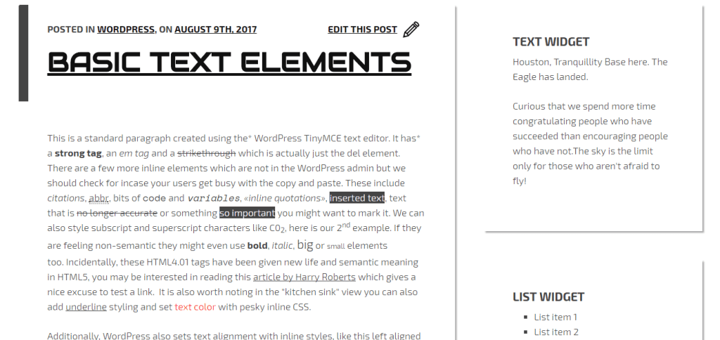Créer un thème Repo Ready - Screenshot - Content