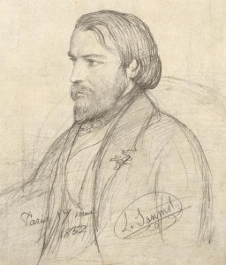 Portrait of Frederic Ozanam in 1852, miniature copy of the portrait by Janmot Louis (1814-1892), probably made by the artist himself.