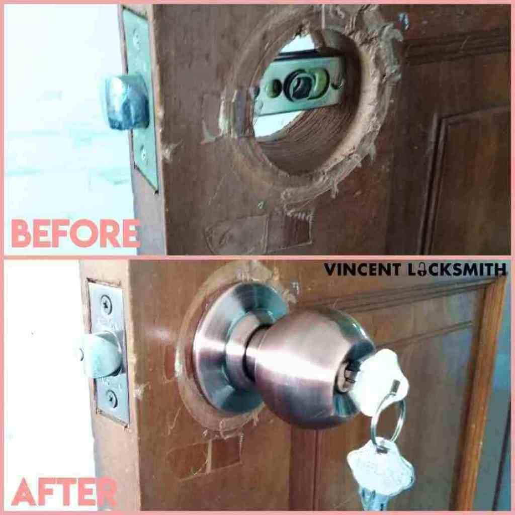 Changing doorknob