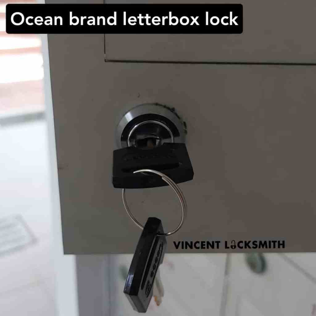 Opening and changing letterbox lock
