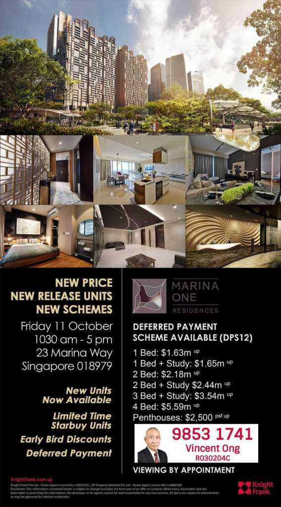 Marina One Residences New Price Scheme call Project Team Leader 6598531741 for more info
