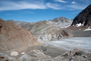 Only seven percent of Austria's national territory remains untouched by manmade changes. The construction of the ski resort Pitztal-Ötztal would destroy a natural glacier landscape beyond repair. The severe intrusions would cause the total loss of a unique environment and many natural habitats - for WWF Austria, Pitztal / Austria 2019.