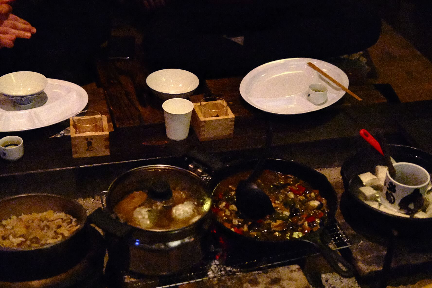 A feast in the Iya Valley made by Shino San