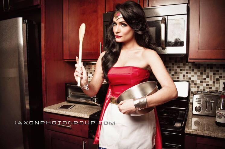 Wonder Woman in the Kitchen