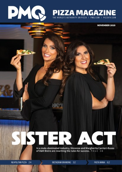 Vincenza and Margherita Italian American Bistro on the Cover of PMQ Magazine Nov 2019