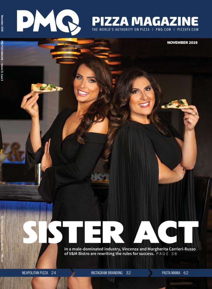 Vincenza and Margherita Italian American Bistro on the Cover of PMQ Magazine Nov 2019