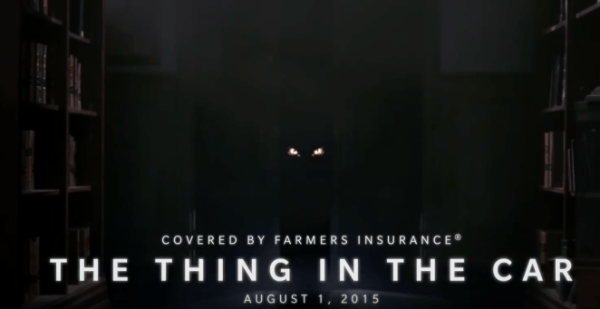farmers insurance - the thing in the car