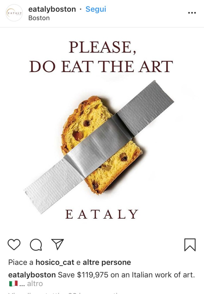 Eataly - Comedian - Banana Cattelan