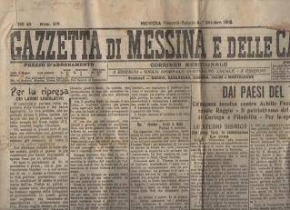 Gazzetta di Messina e delle Calabrie 1905.