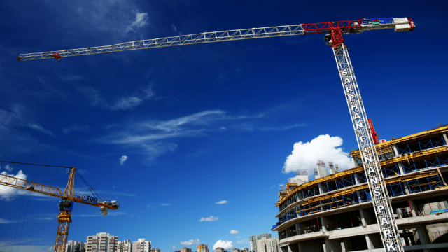 Construction site of prefabricated building