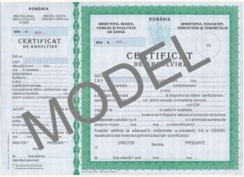 model certificat absolvire, cursuri formare profesională, vindecativiata.ro, București
