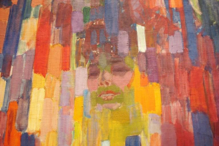 Frantisek Kupka, Mme. Kupka Among Verticals, 1910-11. MOMA-2