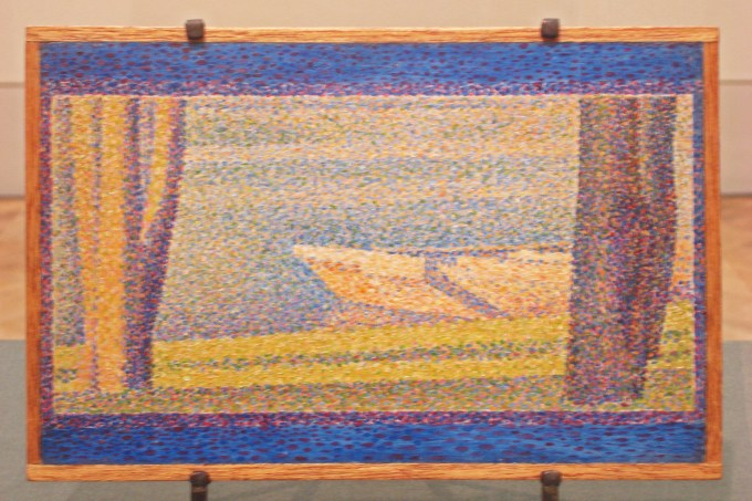 Moored Boats and Trees, Georges Seurat, 1890 PMA-1