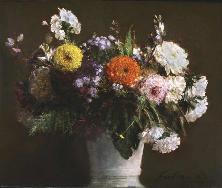 1862 Still LIfe with Chrysanthemums oil on canvas 46 x 55.6 cm Philadelphia Museum of Art, PA