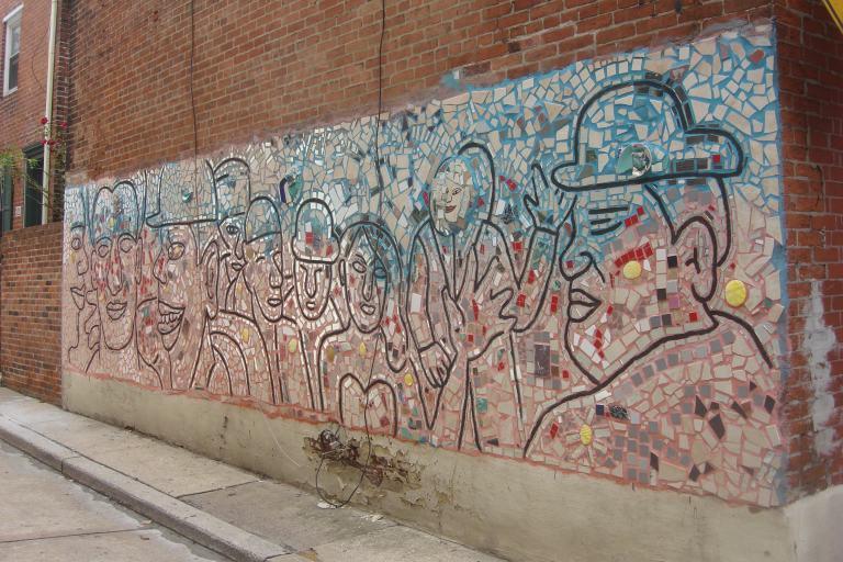Tile murals Isaiah Zagar 10th Street Society Hill 09112015-1
