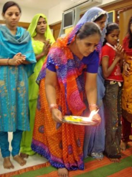 Service for Laxmi blessng at SEWA's shop 1