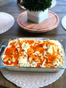 pre baked mac and cheese in baking pan