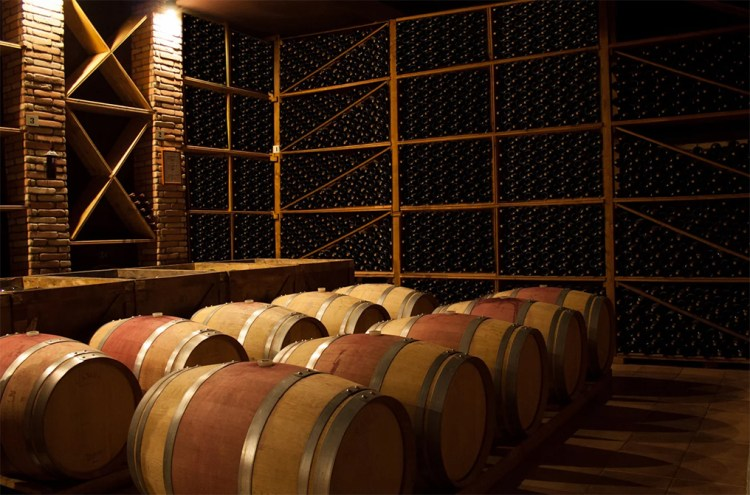 Campi Valerio Cellar with Barrels